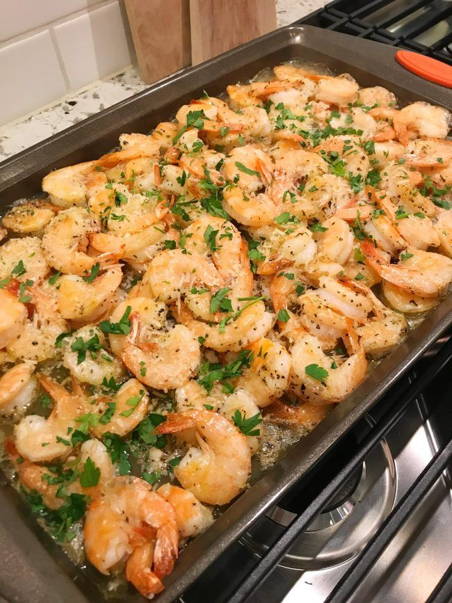 Garlic Parmesan Roasted Shrimp #shrimpscampi