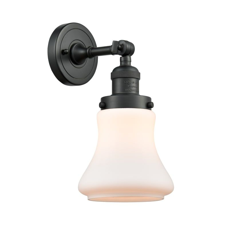 "Photo of Innovations Lighting 203 Bellmont Bellmont Single Light 11 ""high bathroom lamp matt black / matt white interior lighting bathroom fittings bathroom"