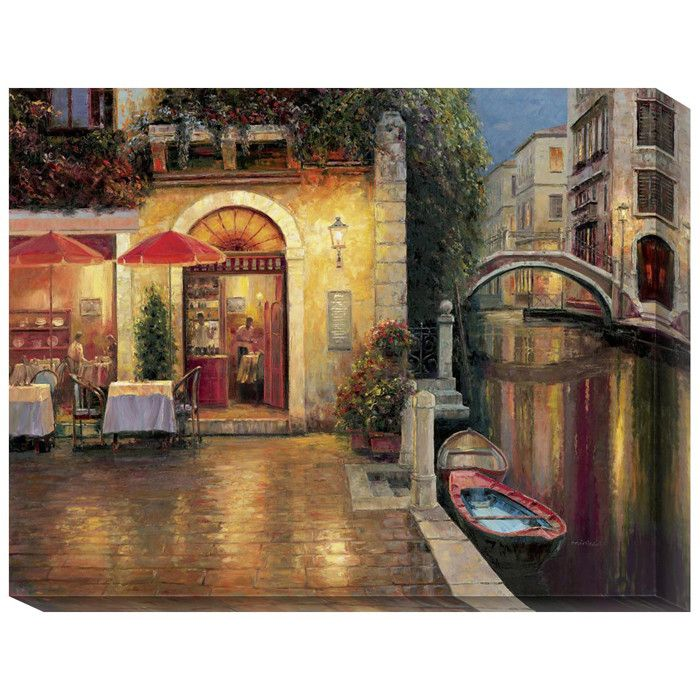 Night Café After Rain Canvas Wall Art | Products I Find Interesting ...