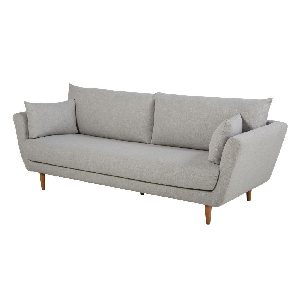 3 Sitzer Sofa Hellgrau Canape 3 Places Canape Bout De Canape