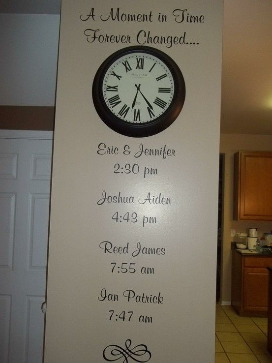 Customize with your Children's birth times.  We can also add the date to each one.