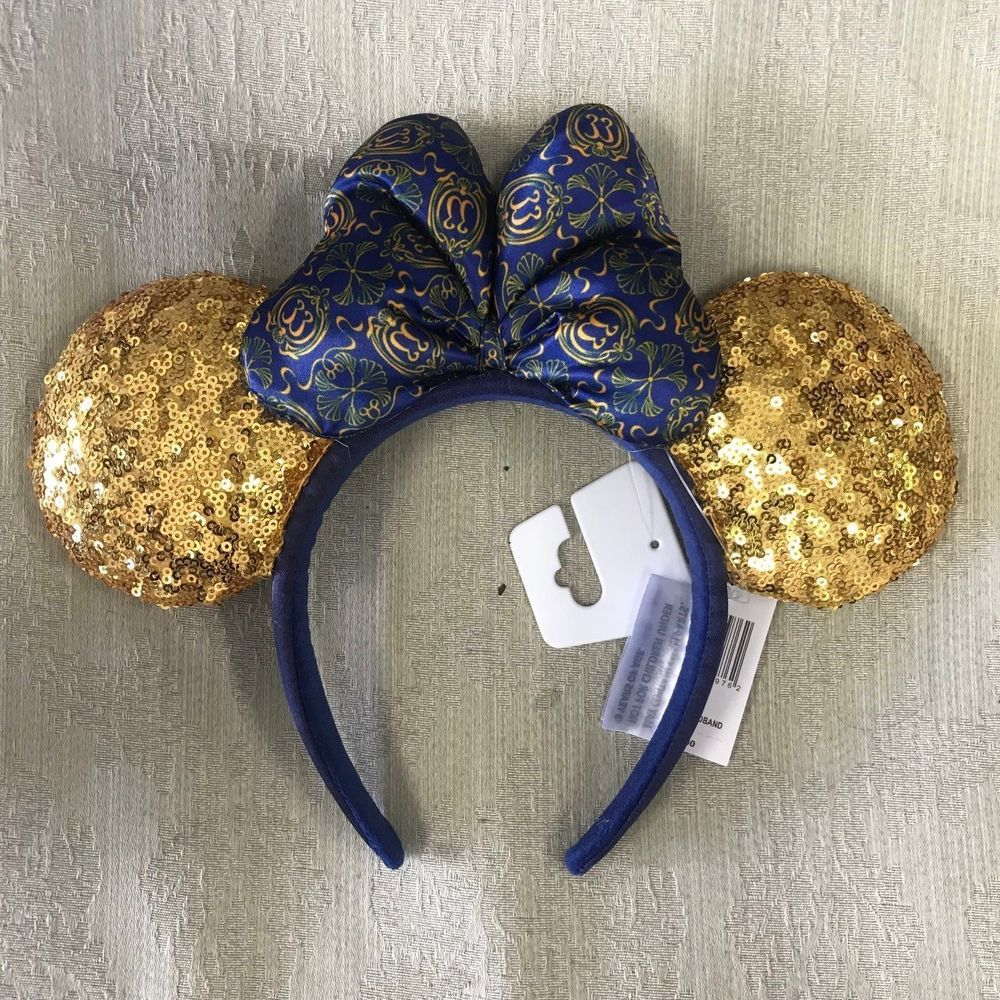 b1782b9040773 Details about NWT RARE Disneyland CLUB 33 MINNIE MOUSE Sequined Ears ...