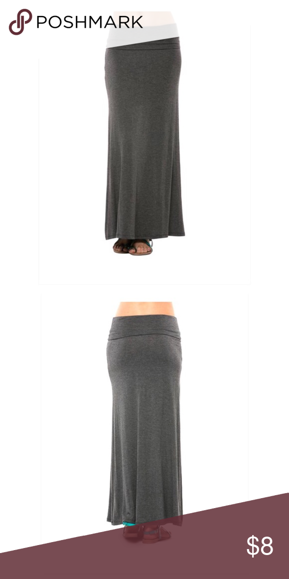 ec71157e42 Charcoal Maxi Skirt Charcoal Maxi Skirt from Magic Fit. Cotton Spandex  blend. Brand new in package; excellent condition. Never worn. Skirts Maxi