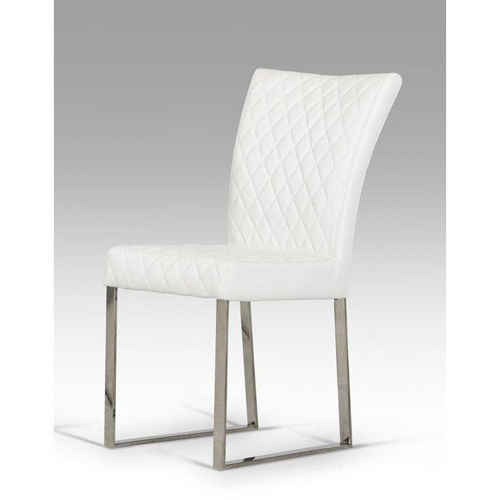 Modrest Chrysler Modern White Leatherette Dining Chair