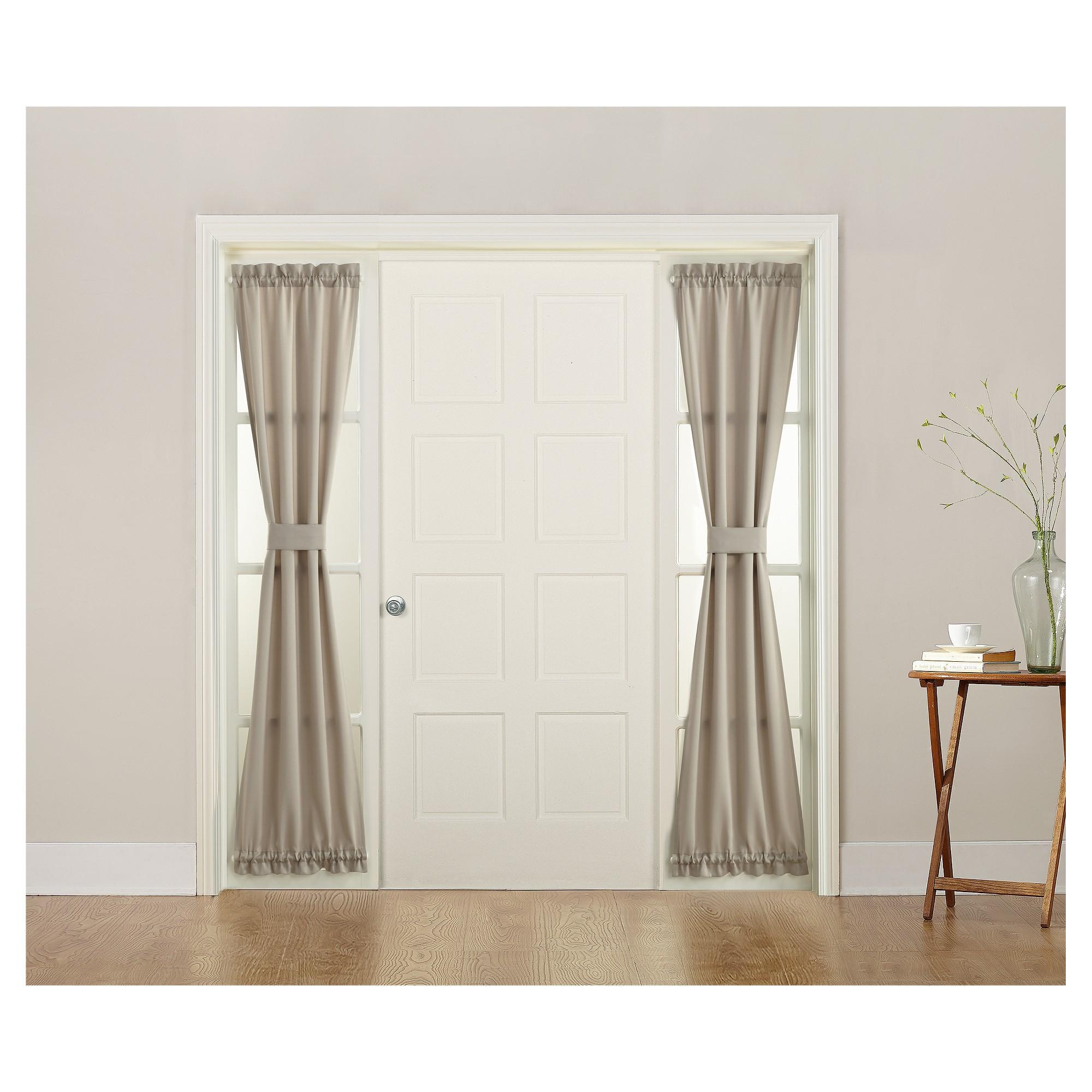 Seymour Energy Efficient Front Door Sidelight Curtain Panel Stone