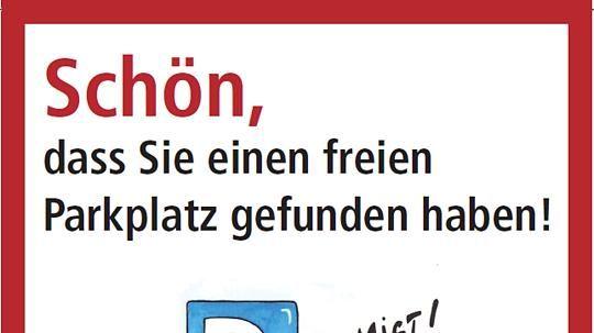 Wermelskirchen Falschparker Bekommen Humorvollen Denkzettel Falschparker Humor Parkverbot