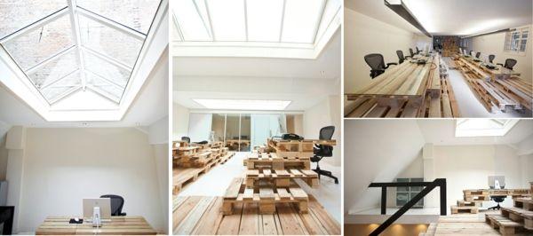 holzpalette diy office möbel Möbel aus Paletten Pinterest