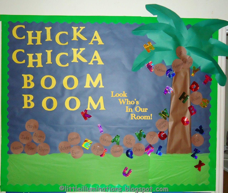 Chicka Chicka Boom Boom bulletin board little illuminations: Back To ...
