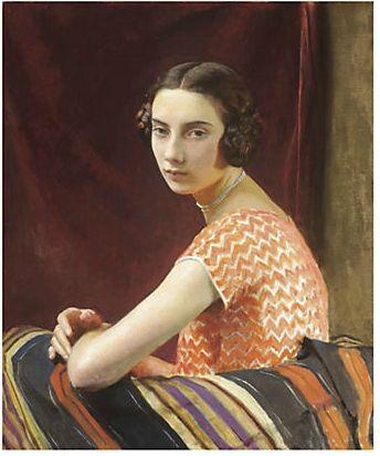 George Spencer Watson (1869 - 1934) The Orange Dress