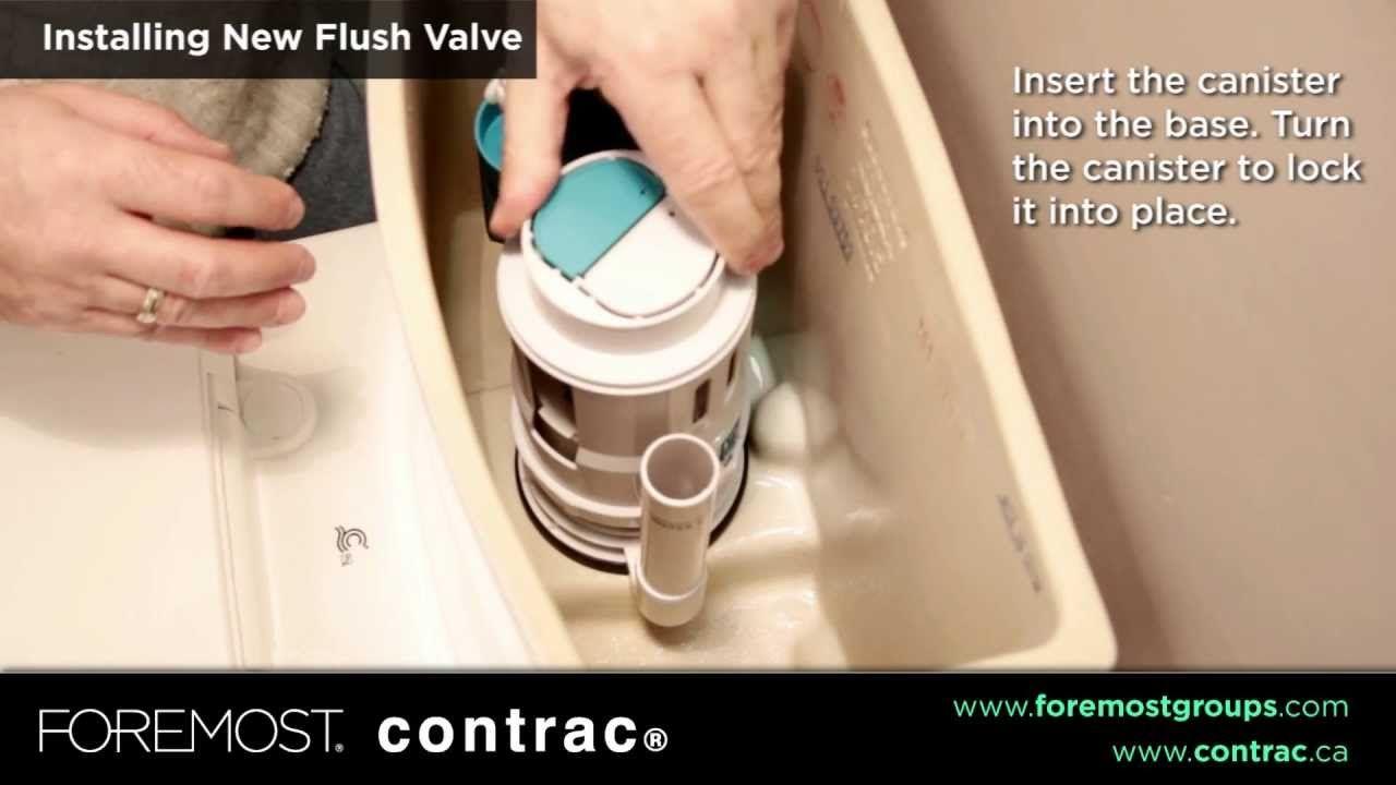 How To Replace Your Canister Type Dual Flush Valve Flush Valves Flush Valve