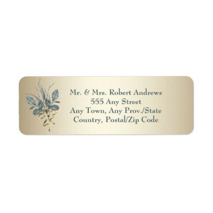 Gold Trim - Wedding - Return Address Labels - labels customize diy