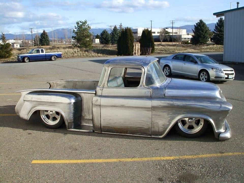 1956 Chevy swb pick full Custom Project Bagged | Chevy Apache ...