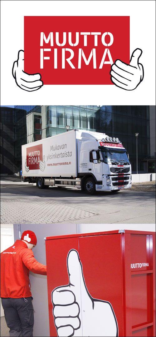 Muuttofirman yritysilme. www.fabrik.fi