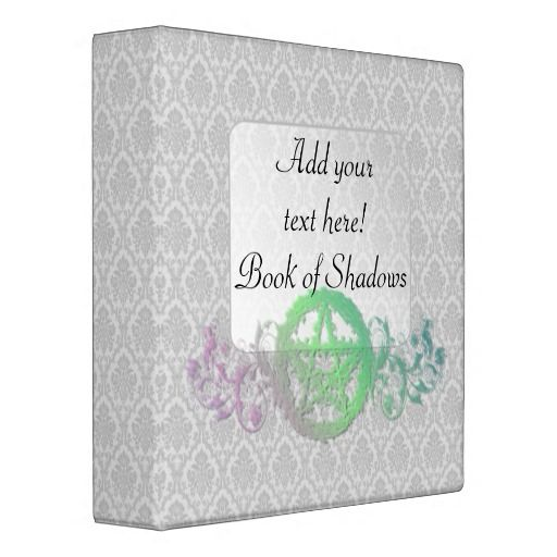 Customizable pentacle Book of Shadows