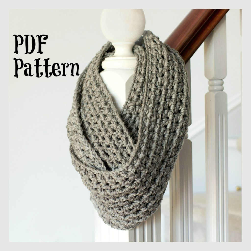 PATTERN ONLY Basic Chunky Infinity Scarf por FavouriteThingsShop, $3 ...