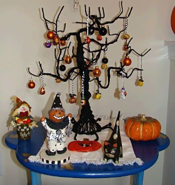 three outstanding homemade halloween decorating projects halloween homemade candelabra tree and tree ornaments halloween candelabra