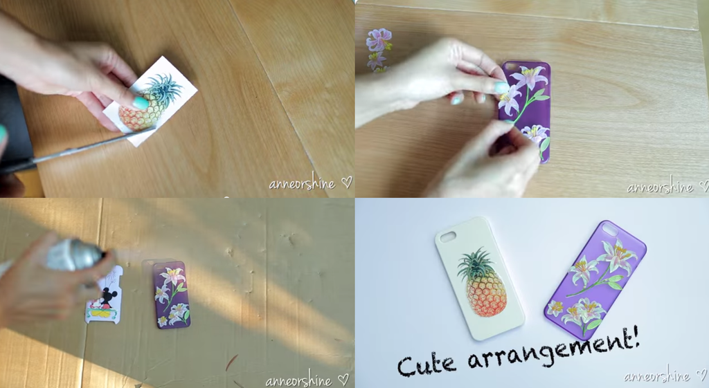 Use Stickers And Secure Them With Clear Varnish Spray With Images Diy Phone Case Diy Phone Diy Security