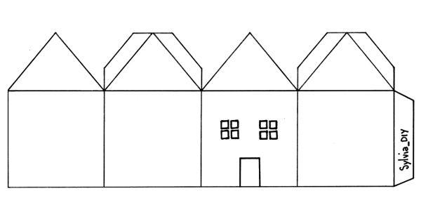 Schema casette di carta natale pinterest casette for Programma di costruzione per la costruzione di una casa