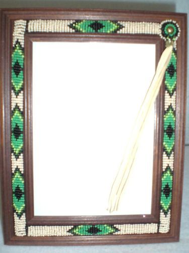 Beaded Native American Picture Frame 7 X 9 Lakota Sioux Bpf1 Ebay