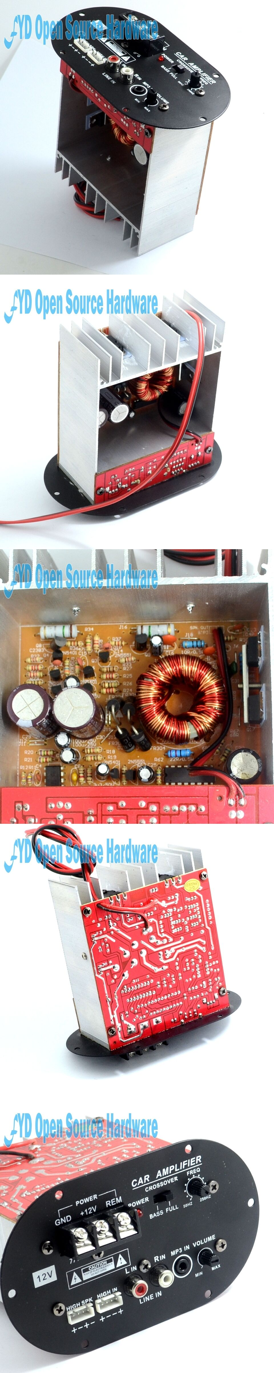 S80b 8 12 Inch Tube Core 12v Car Subwoofer 120w Tritone Pure Bass Amplifier Circuit Board For