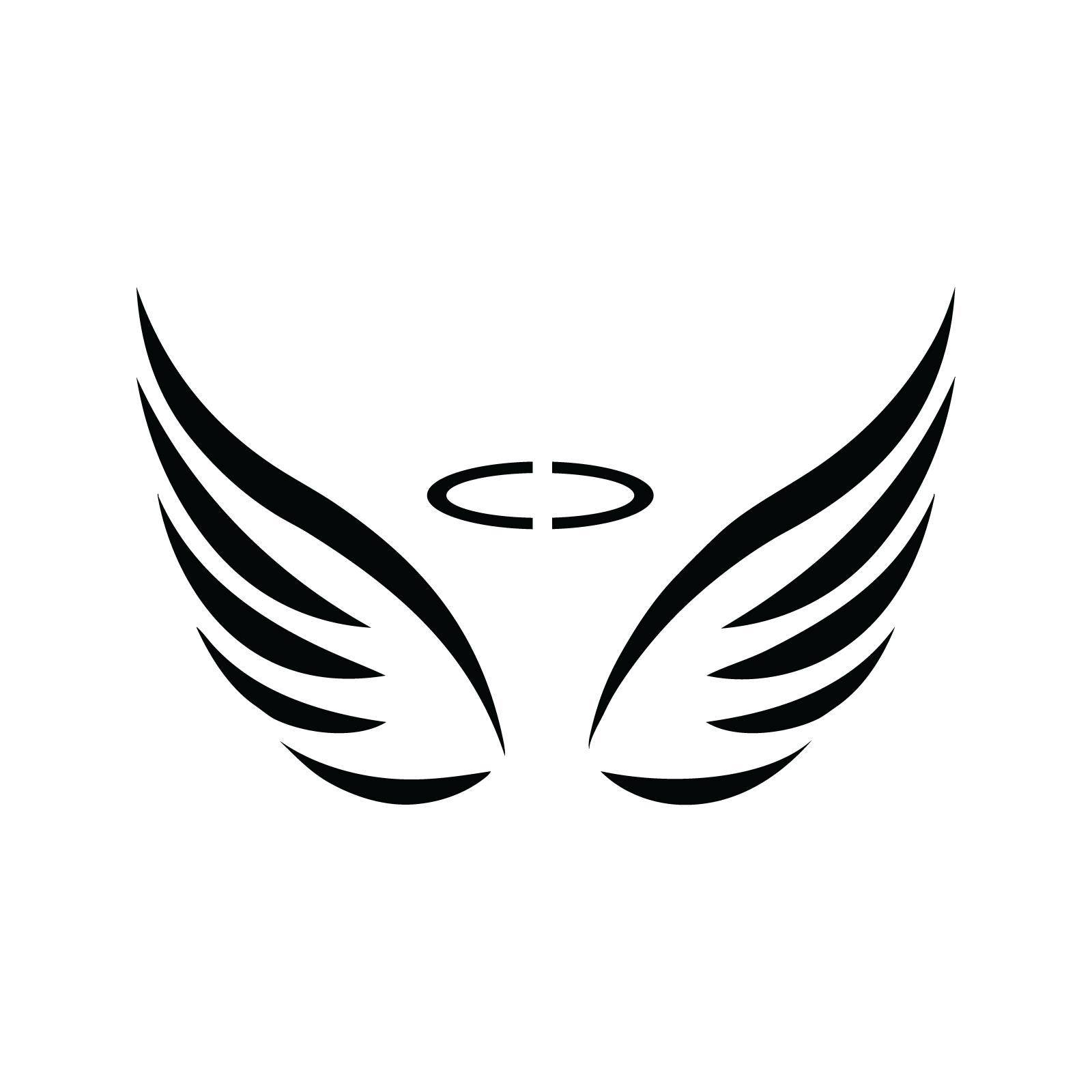 Angel Wings Stencil 11 X24