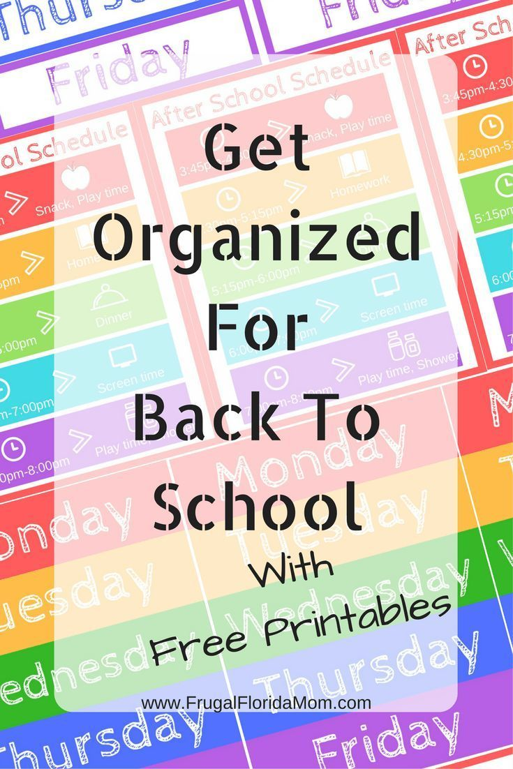 Get Organized For Back To School  With Free Printables is part of School Organization Preschool - Going back to school can feel chaotic for kids and parents  Check out these ways to get clothes, snacks and schedules organized for a smooth transition