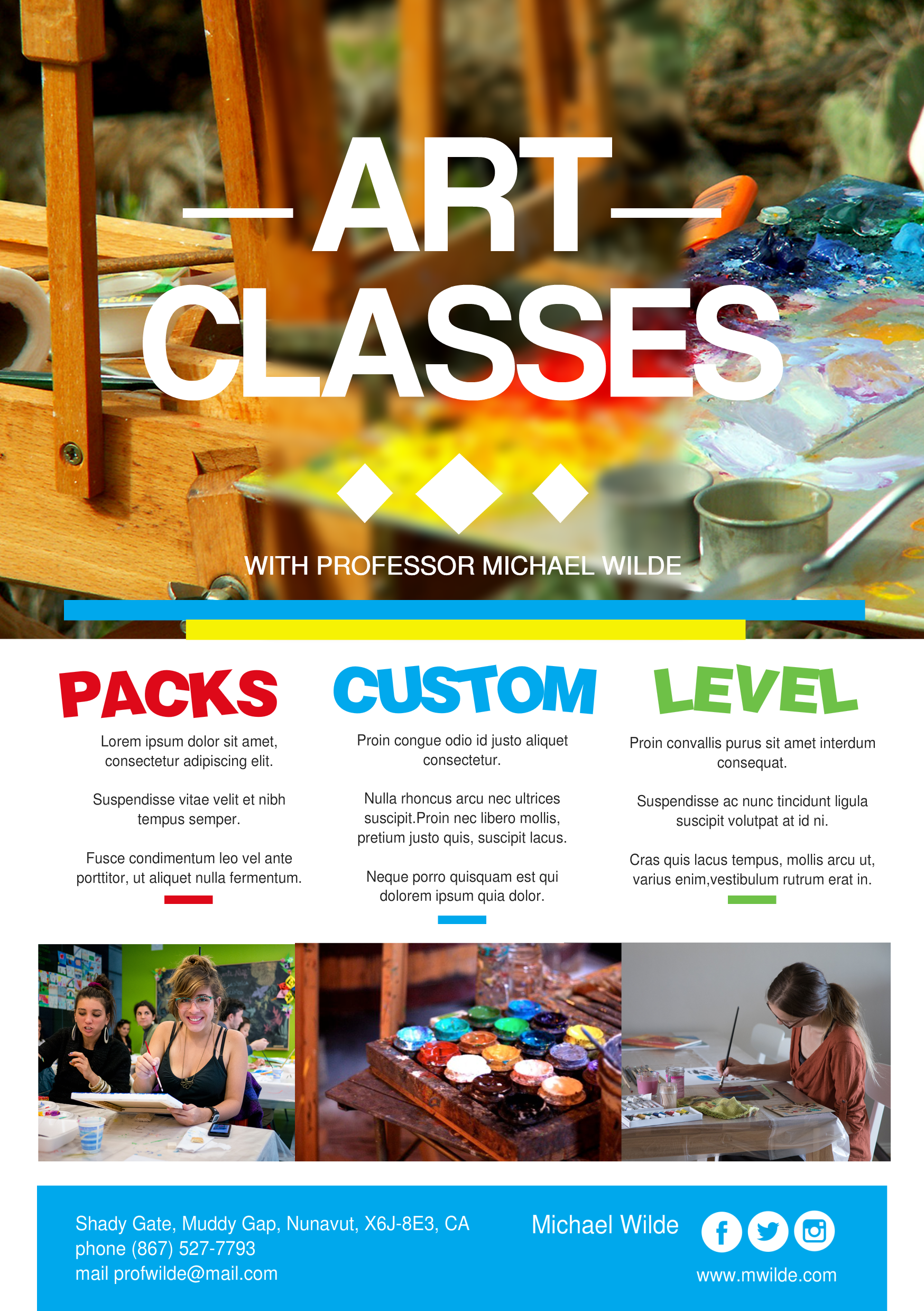 art classes promotional a flyer http premadevideos com a5 flyer