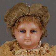 English poured Wax Portrait Child