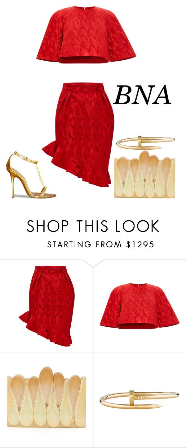 """""""BNA"""" by deborahsauveur ❤ liked on Polyvore featuring Prabal Gurung, Rauwolf and Cartier"""