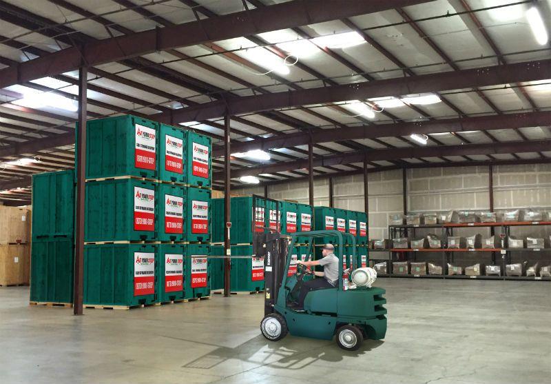 Storage pods delivered