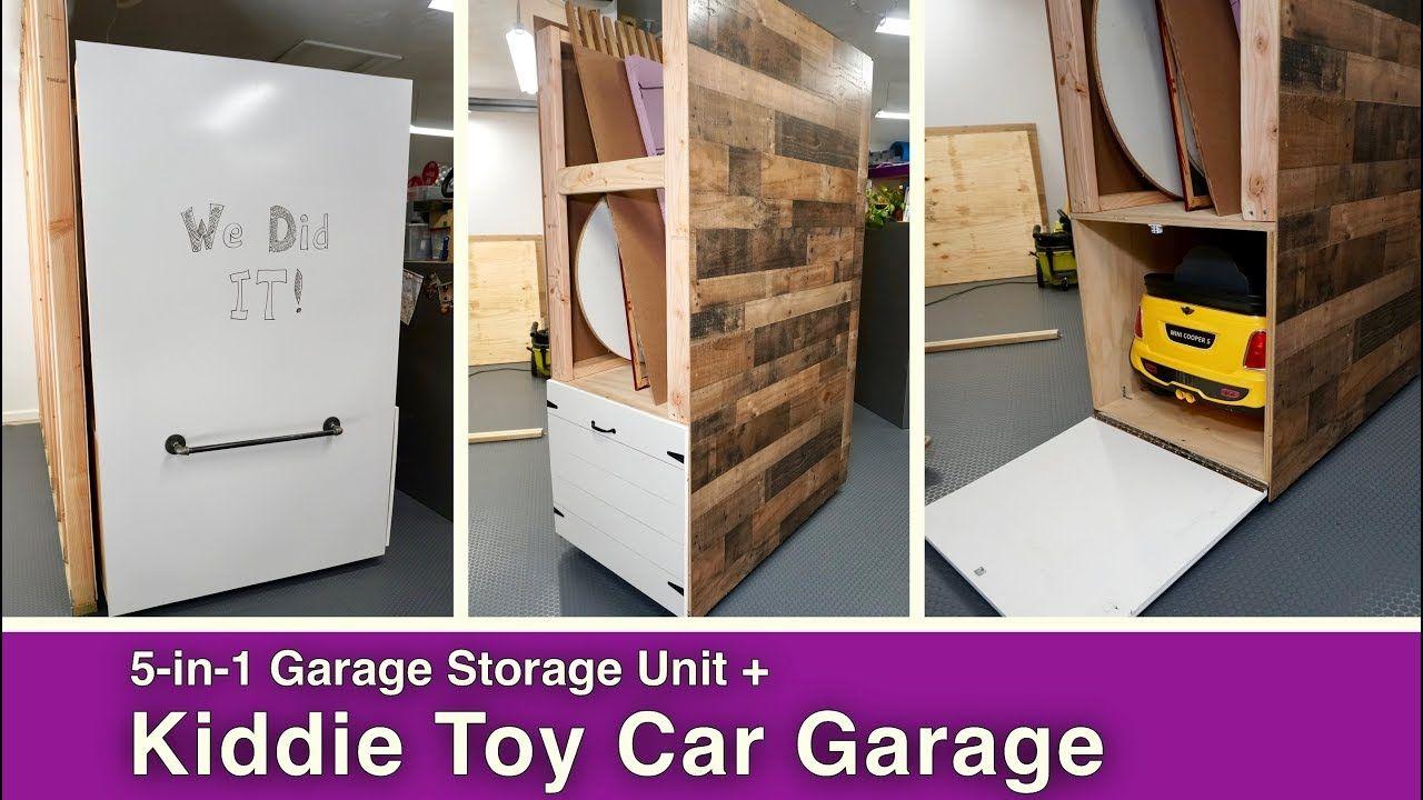 5 In 1 Garage Storage Unit Kiddie Car Garage Storage Kiddiecar Garage Whiteboard Bulkystorage Garage Storage Units Storage Solutions Diy Garage Storage
