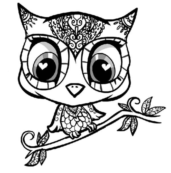 Coloriage Facile Hibou.Coloriages Mandala Hibou Adultes Hibou Owl Coloring Pages