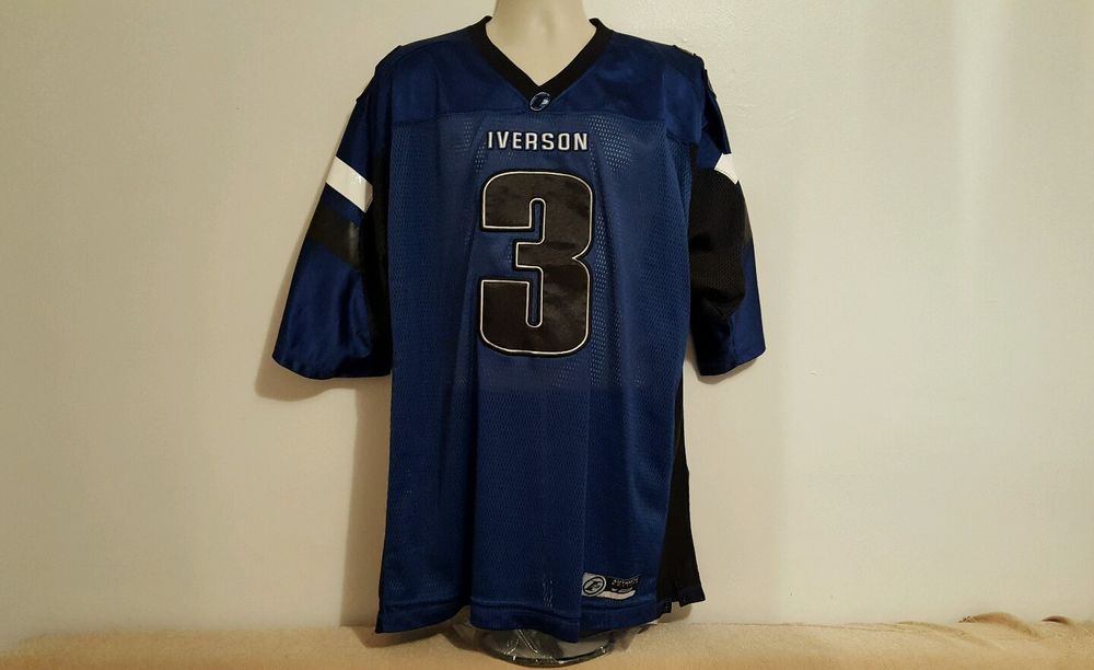 b2aaa5803 Reebok Allen Iverson I3 Football Jersey 2XL Blue The Answer Sewn Limited  Edition  Reebok  Jerseys