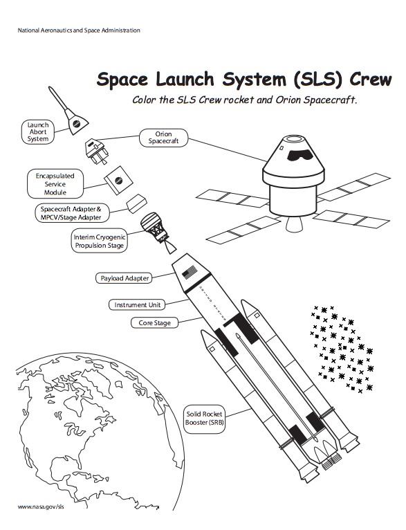 Nasa S Space Launch System Coloring Pages Coloring Page Websites