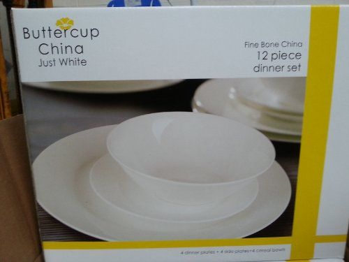 12 Piece CHINA Dinner Set Just White Http://www.amazon.co