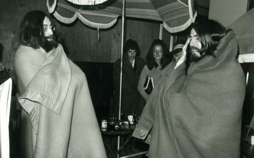 worshipinginthechurchofgeorge:  Isle of Wight Festival August 1969   Sharing a blanket Isle of Wight 1969