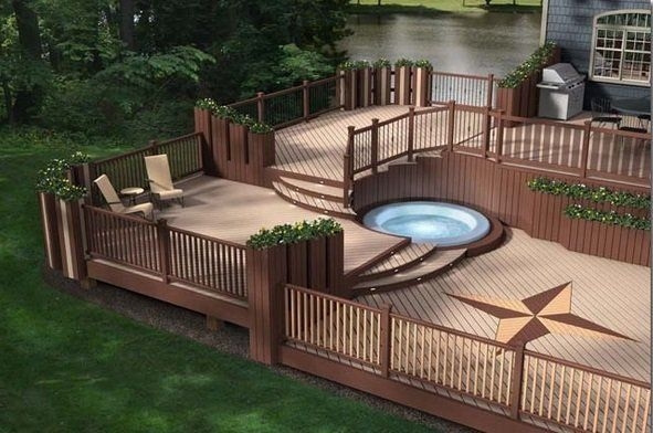 Pictures Of Sundecks Stairs And Benches: Composite Decks Composite Deck Pros Cons Patio Design