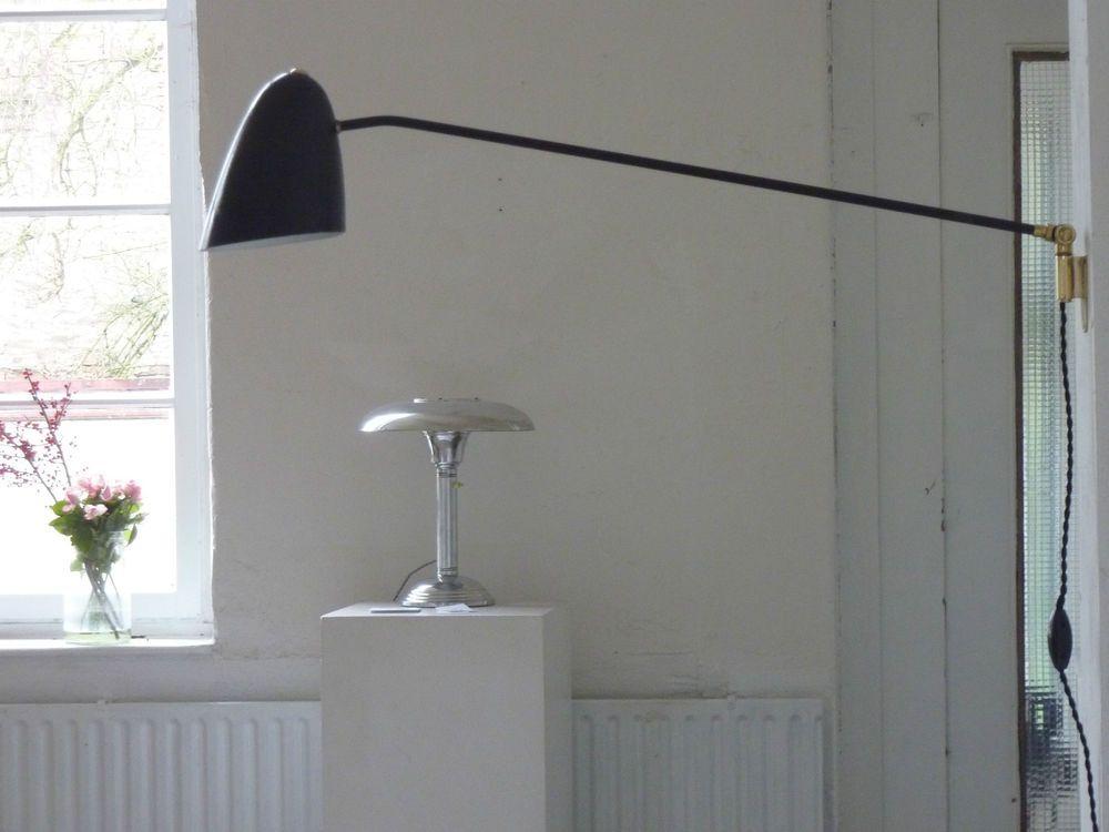 Küchenlampe vintage ~ Wandlampe schwarz arbeitslampe potence handmade wall lampe vintage