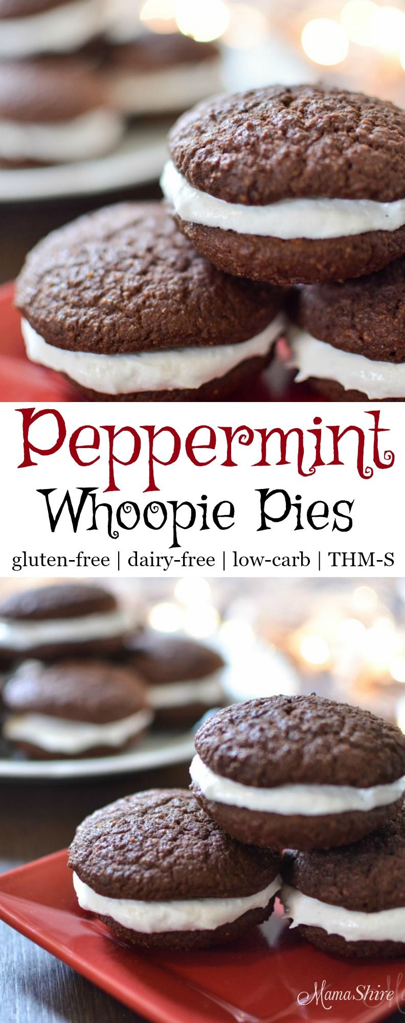 Peppermint Whoopie Pies Recipe Dairy free low carb