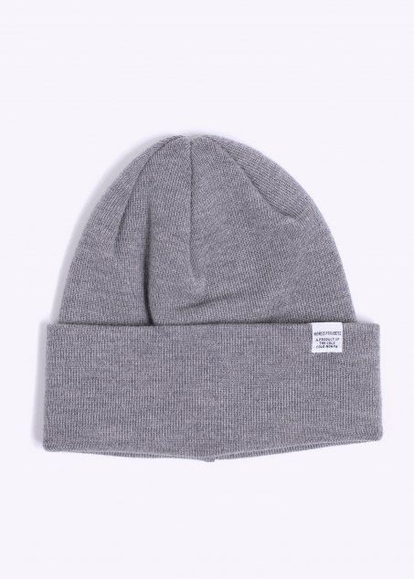 0b940f82c44 Norse Projects Top Beanie Hat - Light Grey | Best Apparel UK ...