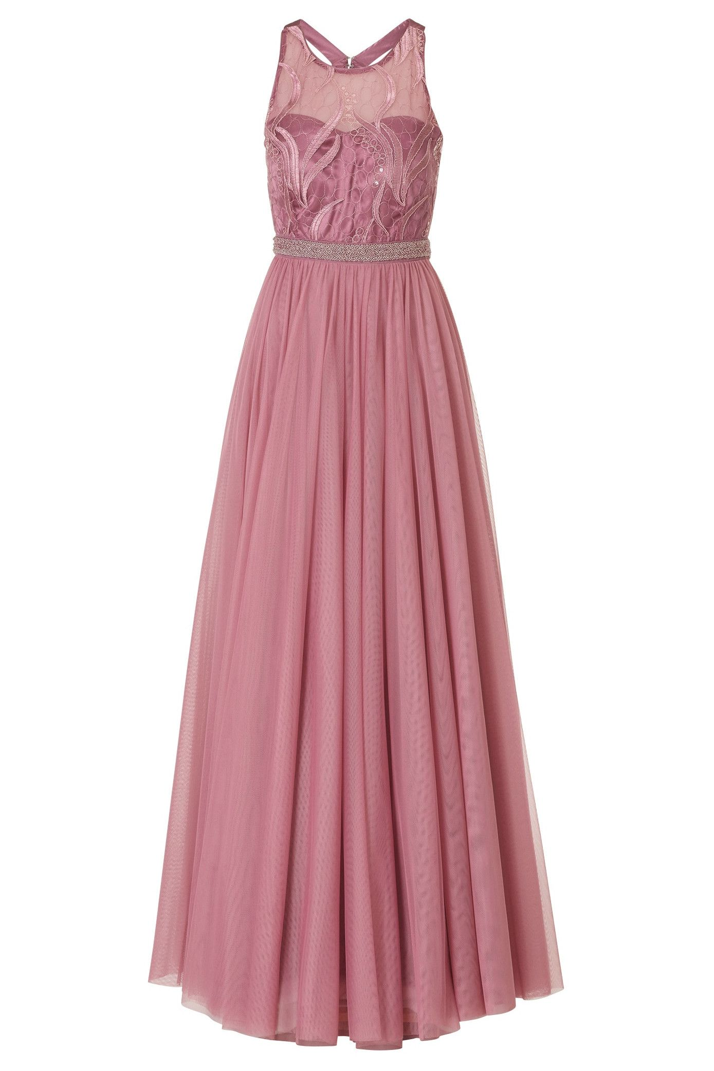 Brautjungfernkleid In Altrosa Mit Bildern Abendkleid Brautjungfern Kleider Ruckenfreies Kleid