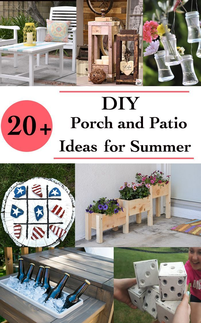 diy outdoor ideas for a fun summer porch and patio decorating