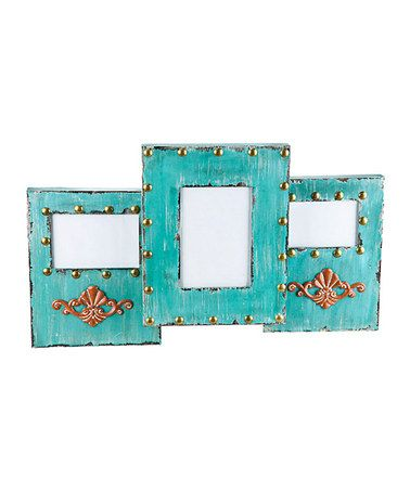 Take a look at this Turquoise Collage 4\'\' x 6\'\' Frame by Cypress ...