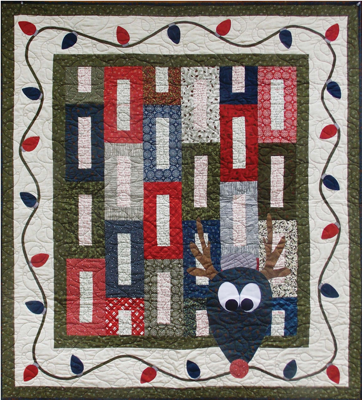 Red Nose Reindeer | Jelly Roll Quilts | Pinterest | Red nosed ... : reindeer quilt patterns - Adamdwight.com