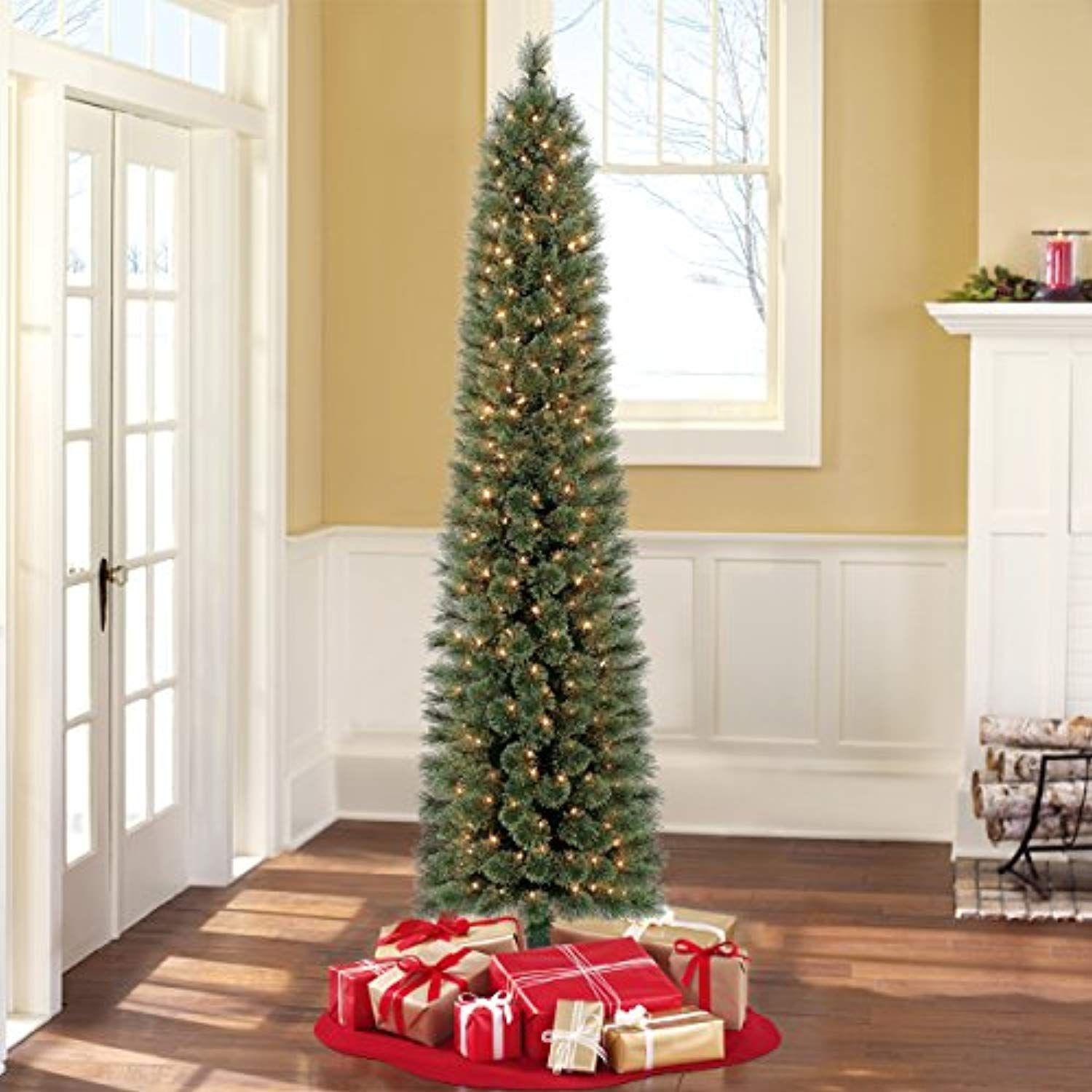 Pre-Lit 7Ft Clear-Lights Shelton Artificial Christmas Tree ...
