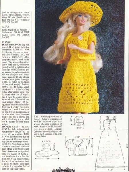 Vestiti Barbie Uncinetto Schemi Da Stampare Barbies Dresses Doll
