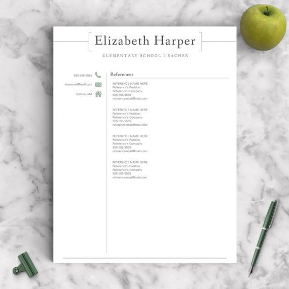 Teacher Resume Template for Word \ Pages 1 2 by LandedDesignStudio - narrative resume template