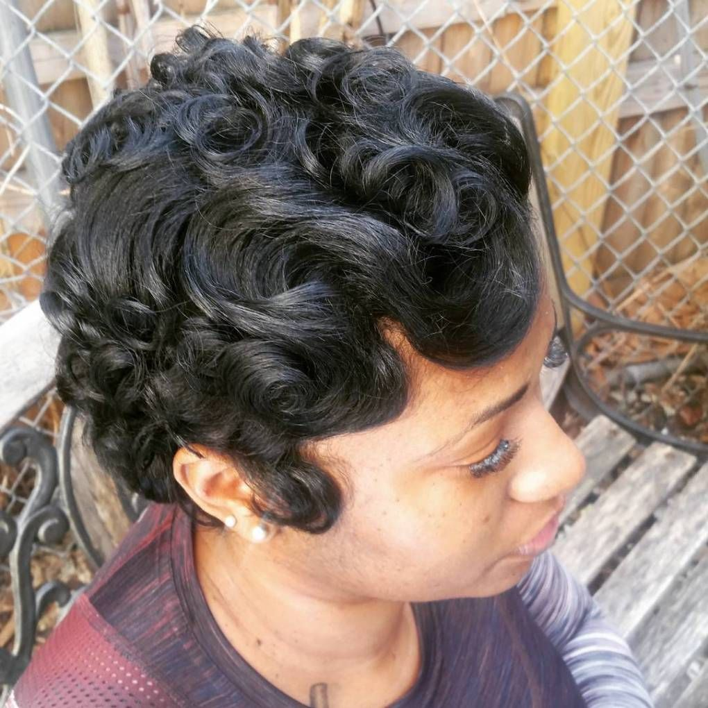 13 Easy Finger Waves Hair Styles You Will Want To Copy Finger Waves Short Hair Hair Waves Natural Hair Styles
