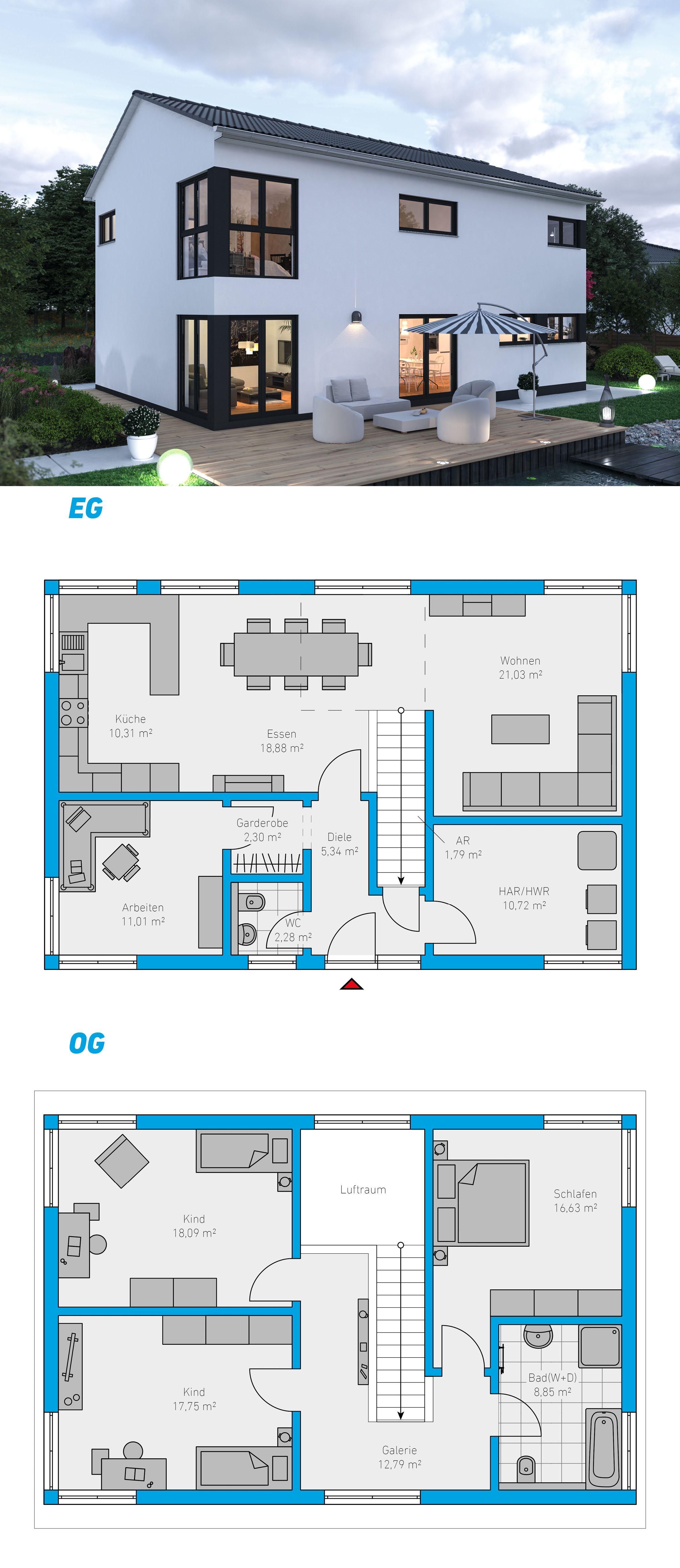 Edita 158 Schlusselfertiges Massivhaus 2 Geschossig Spektralhaus Ingutenwanden 2geschossig Grundriss Hausbau Mas Haus Bauen Haus Grundriss Bauplan Haus