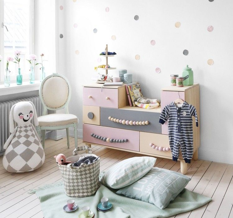 ideen f rs kinderzimmer ikea hacks einfache kommode malen griffe selber machen kinderzimmer. Black Bedroom Furniture Sets. Home Design Ideas